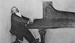 Filosofía y música. Brahms tocando el piano.