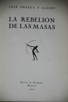 portada La rebelion de las masas