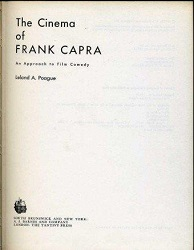 (05) Portada de Poague The cinema of Frank Capra