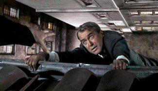 James Stewart en una escena de Vértigo