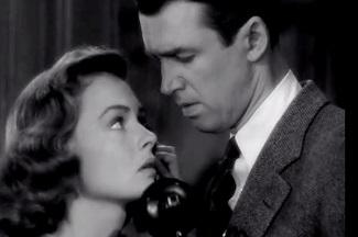 La escena del teléfono, decisiva para que George manifieste su amor a Mary