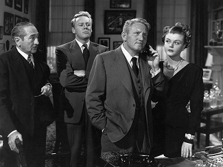 Spencer Tracy, Angela Lansbury, Van Johnson, and Adolphe Menjou in State of the Union