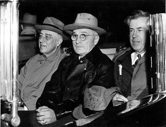 Roosevelt, Truman y Wllace en 1945