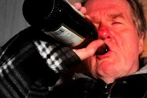 Hombre alcohólico