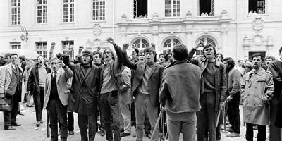 Universitarios franceses en mayo 68