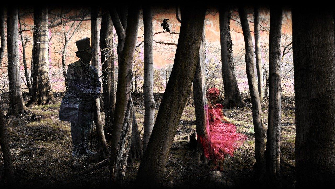 Espíritus en un bosque