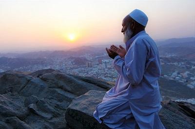Musulmán en oración.
